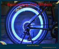 Hot ! new 4pcs bike super spoke wire tyre  LED lamp hot wheels bicycle tire wheel skull head valve sealing caps light On/ Off