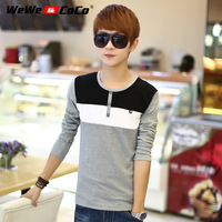 Wewecoco clothes men's clothing t-shirt autumn long-sleeved shirt thin outerwear stripe o-neck t shirt