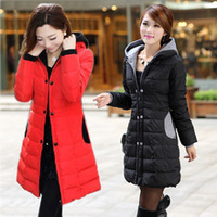 2014 New Fashion Winter Coat Women Coats Wadded Jacket Long Double Breasted Parka Down Causal Jackets Chaquetas Mujer Casacos