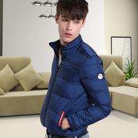 Nq men's clothing 2014 winter male short design fashion down coat male slim stand collar outerwear