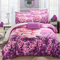 Bedrug 3d 100% cotton four piece set cotton sanded 100% 3d four piece set three-dimensional flowers 4 kit bedding