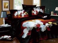 3d 100% activated three-dimensional cotton print four piece set princess bedding 100% cotton bedding