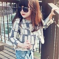 Small female child jacket outerwear children's clothing 2014 peach cream