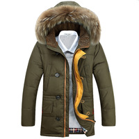 P275 2014 male winter medium-long with a hood thermal thickening down coat male 5009 three-color