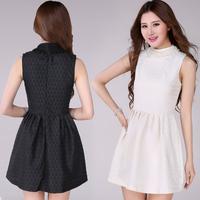 2014 Summer Hot Selling Elegant  Slim Sleeveless Short Beading Casual Party Dress 2 Colors  211