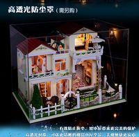 DIY LED LIGHT wooden Dollhouse Centruy Lafite Luxury garden villa from the stars kit