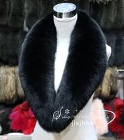 2014 full leather black fox fur collar shawl collar fox fur collar fur raccoon fur scarf