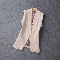 Free shipping 2014 Suit vest women sleeveless tank top spring and autumn qiu dong vest vest coat