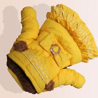 D17 children's clothing female winter child 2014 wadded jacket cotton-padded jacket child cotton-padded jacket children thick
