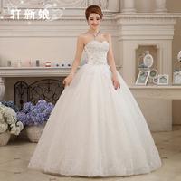 2014 new Wedding dress formal dress married diamond tube top wedding dress wedding princess dress bandage free shipping