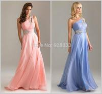 new version  one shoulder bridal evening dress oblique evening dress spaghetti strap  plus size evening dress free shipping