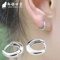 Brief glossy mini in ear 925 pure silver earrings exquisite female stud earring anti-allergic earring