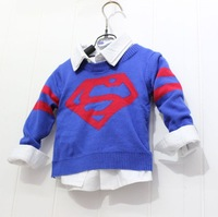 Fashion Cartoon Heroes Long Sleeve boys sweater Knitting Cute Children Sweaters