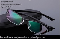 18g light farsighted  hyperopia,intelligent Dual smart zoom asymptotically bifocal reading glasses