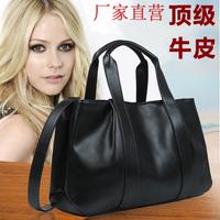 Genuine leather bag for women 2014 bags one shoulder handbag messenger bag first layer of cowhide women's handbag big bag large