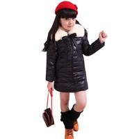 Free shipping retail Winter child down coat medium-long female child children's clothing down coat