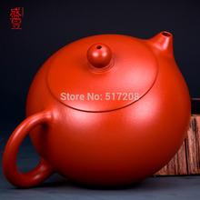 Gift Box Chinese yixing zisha tea pot kung fu tea set red stoneware pot 180ml original purple clay tea pot half handmade pot