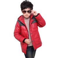 Child down coat male long design male child down coat winter down coat male long design