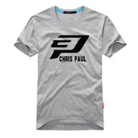 CP paul basketball t shirt basketball jersey  short sleeve T shirt t logo 6XL 5XL 4XL plus size loose men tee new cool sports