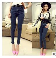 2014 New Fashion Wild Slim Was Thin With Dark Jeans Lady
