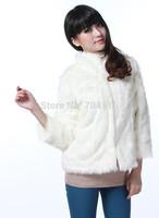 2014 autumn and winter women's faux fur slim short design women's coat