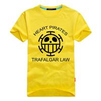 men  cartoon One Piece heart pirates Trafalgar Law t shirt multi color Japanese   6XL  5XL 4XL plus size big loose factory cheap