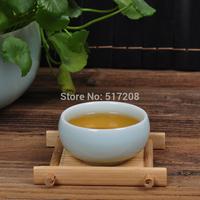 Boutique tea cup 40ml bamboo tea mat Chinese ceramic tea set kung fu porcelain cup Longquan celadon teacup blue made in China