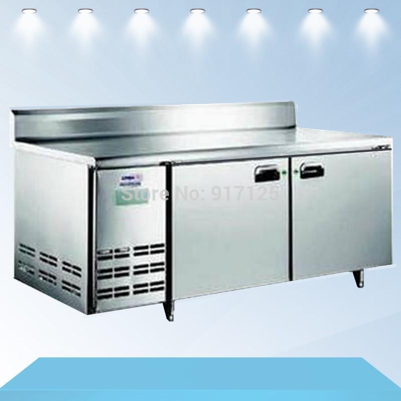 1.8m 2 Door refrigerated work table , cheap two-door Workbench freezer, refrigerated cabinet freezer(China (Mainland))