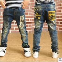 Free Shipping New Fashion Male Child Casual Denim Pants Harem Pants Kids Trousers Boys Jeans