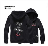 2014 New Avengers Batman The Dark Joker Men Fall zipper sweater coat plus velvet hooded sweater men hoodies cotton hoodies men