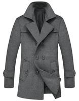 M-3XL 2014 new winter  Men's  Woolen coat  In Mens windbreaker  Korean Slim thick coat