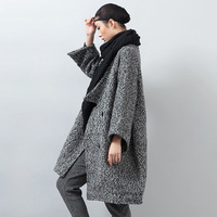 2014 double breasted woolen outerwear female medium-long plus size thickening cashmere woolen overcoat