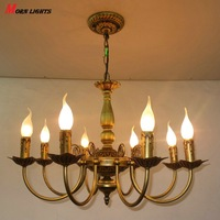 FREE Shipping Antique Iron chandelier Lighting Iron chandelier Bronze light living room bed room lamp iron chandelier light