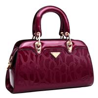 Fashion 2014 genuine leather bags women's handbag shell bag japanned bag  Bolsa famous Designed handbag women bag clutch Brand