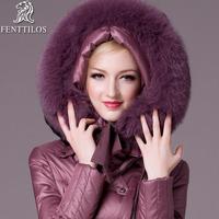 Free shipping down coat rex rabbit hair thickening slim medium-long plus size fur