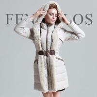 Free shipping medium-long down coat female rex rabbit hair slim high quality luxury winter plus size