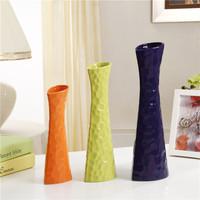 Red green orange white purple ceramic vase home water accessories modern brief
