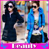 2014 winter clothing new letters print down jacket cotton padded long winter coat M L XL XXL winter jacket women