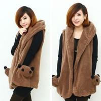 women clothing 2014 winter fashion all-match loose casual dress plus size vest jacket outerwear office vest female coat vests