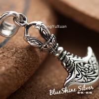 925 pure silver jewelry vintage thai silver axe pendant male fashion axe