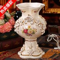 Fashion home decoration luxury flower ceramic flower living room decoration for vase 10284