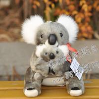 Koala mother and son doll australia koala doll red ribbon koala plush toy k2