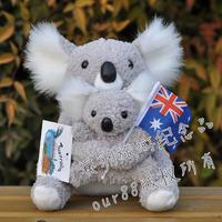 Koala mother and son doll flag australia koala doll koala plush toy omz2