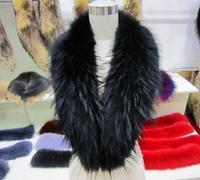 collar fur winter  son of raccoon fur real fur scarf cap of general