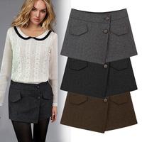 Hot Sale Korean Shorts Pants Women Woolen Shorts Trousers High Quality Plus Size Autumn&Winter Classical Shorts 3