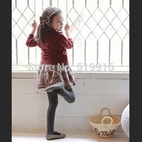 Solid color female child cardigan children's clothing 2014 autumn