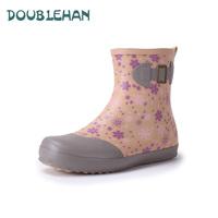 Doublehan brand women's rain boots soft light sweet all-match short design women boots water shoes rain shoes rubber boots
