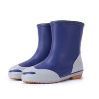 Double han brand fashion knee-high fresh women rain boots water shoes rain shoes nutunal rubber boots