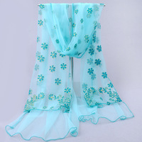 Spring and autumn women's scarf gentlewomen silk scarf gauze silk scarf