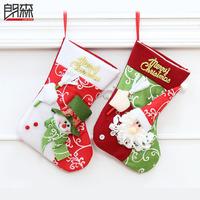 New fashion  christmas snowman  socks christmas gift bags for christmas decoration two designs